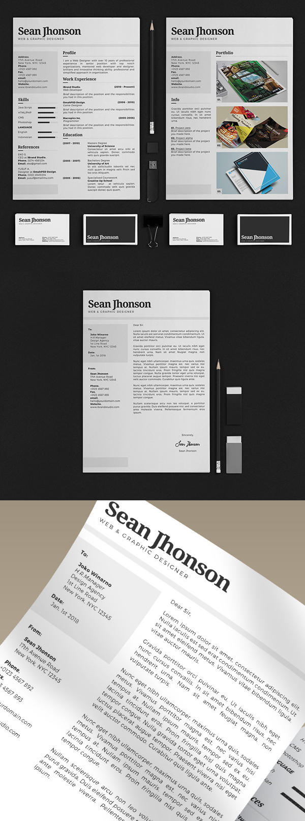 Freebie: Personal Identity Kit PSD Template
