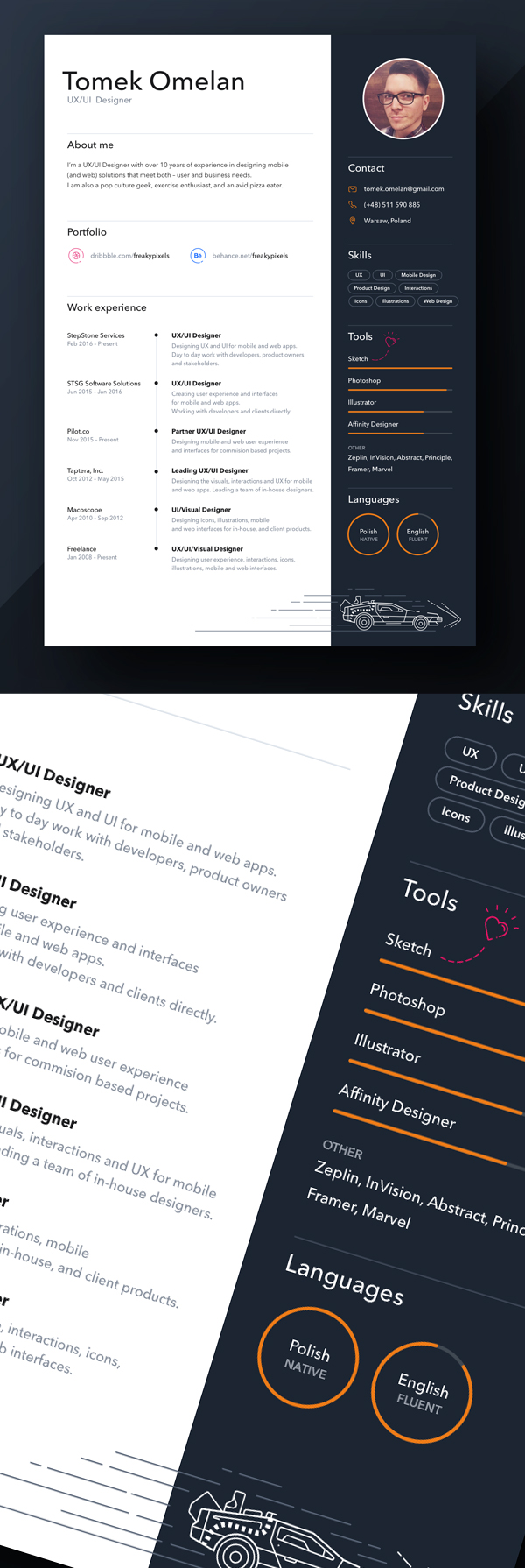 20 Free Simple Clean Resume Templates
