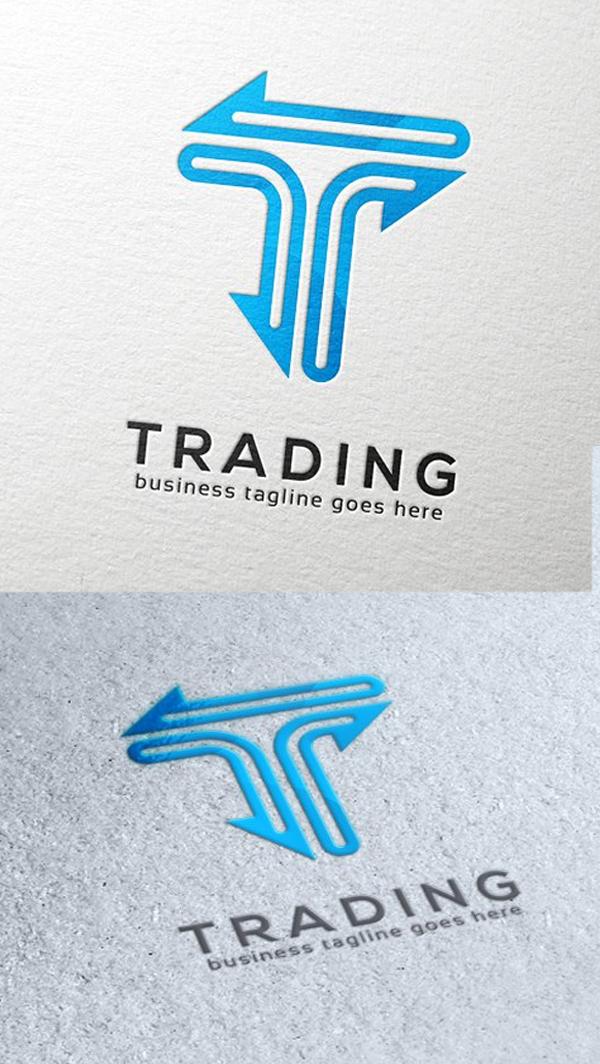 Trading Letter T Logo