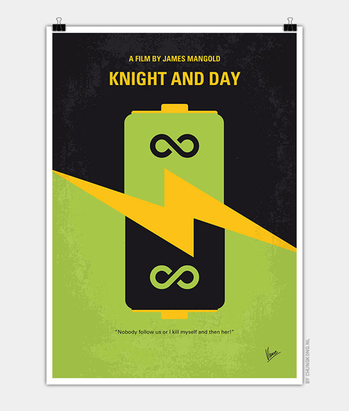 Knight and Day Minimal Movie Posters - 10