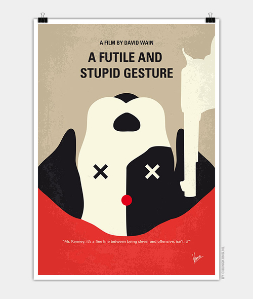 A Futile and Stupid Gesture Minimal Movie Posters - 13