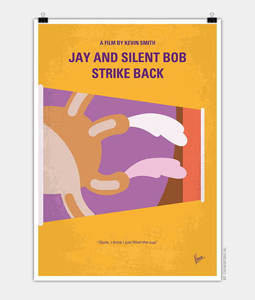 Jay and Silent Bob Strike Back Minimal Movie Posters - 17