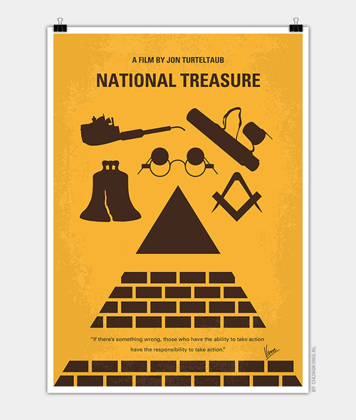 National Treasure Minimal Movie Posters - 22