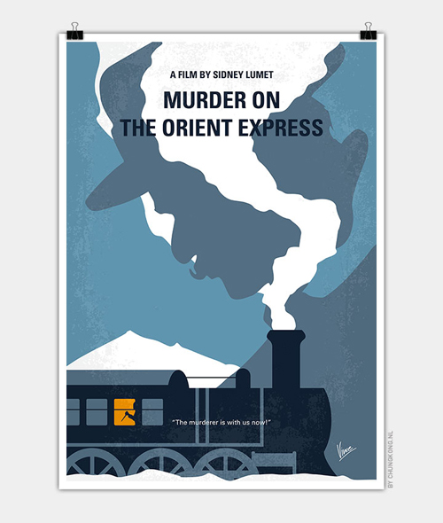 Murder on the orient express Minimal Movie Posters - 26