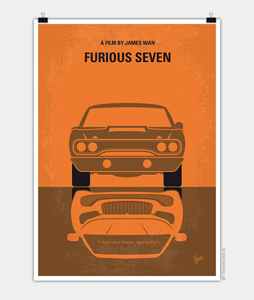 Furious 7 Minimal Movie Posters - 29