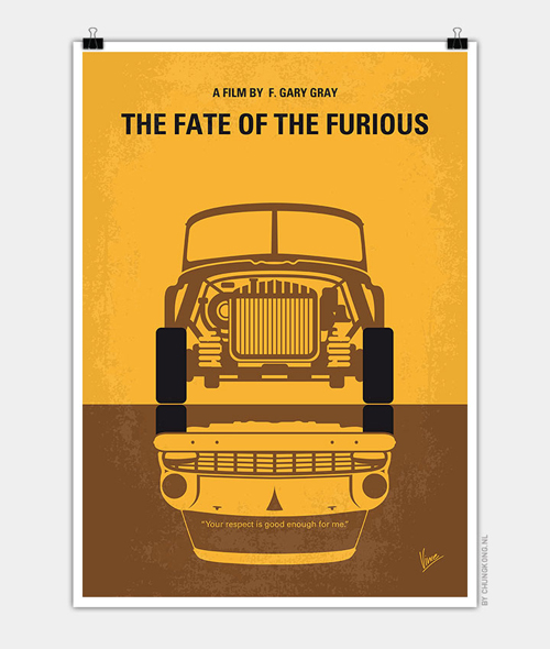 The Fate of the Furious Minimal Movie Posters - 30