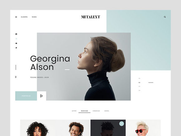 mi talent  a website template for agencies