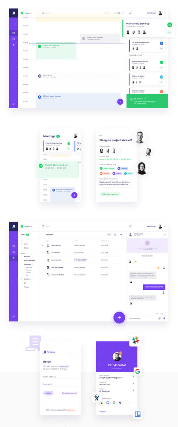 Planguru free ui kit for event and planning apps idevie for Space planning app