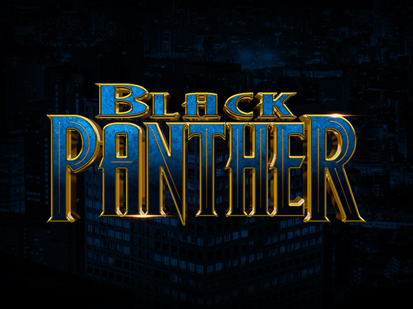 How to Create Black Panther Text Effect in Photoshop Tutorial