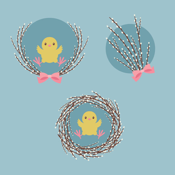 How to Create an Illustration of Pussy Willow With a Chick in Adobe Illustrator
