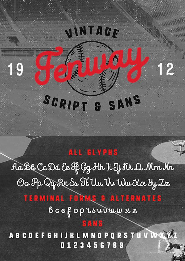 Fenway Free Vintage Font