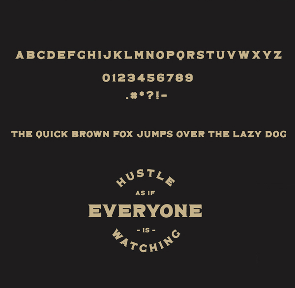 Maveryk Free Font Letters and Numbers