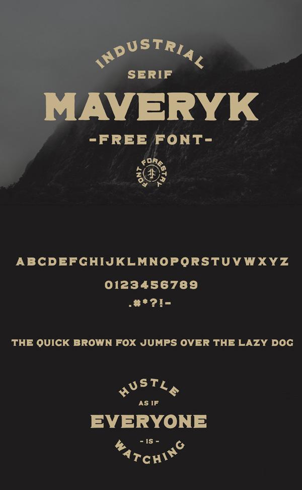 Maveryk Free Vintage Font