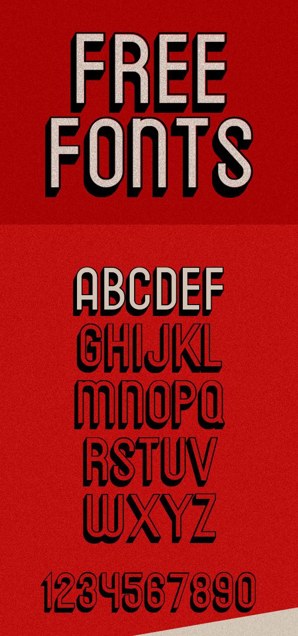 Messages Free Vintage Font