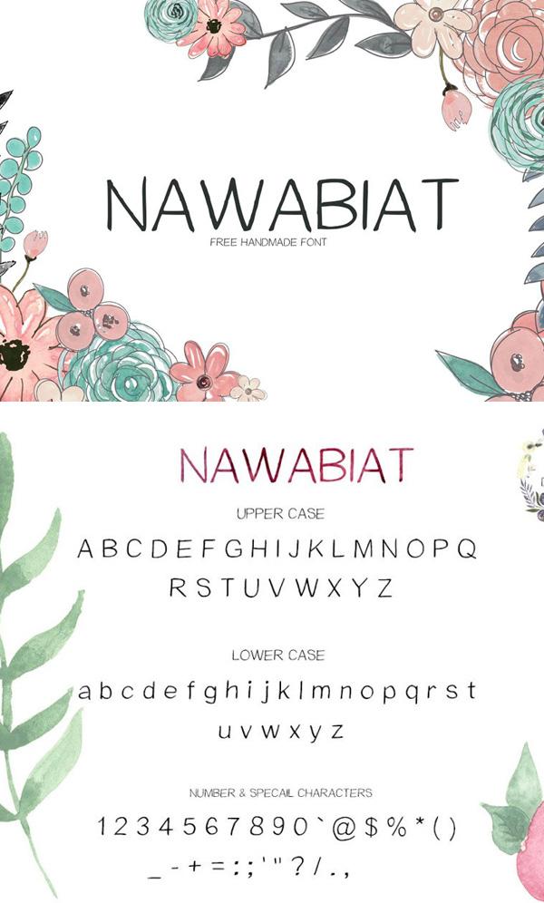 Nawabiat Free Script Font