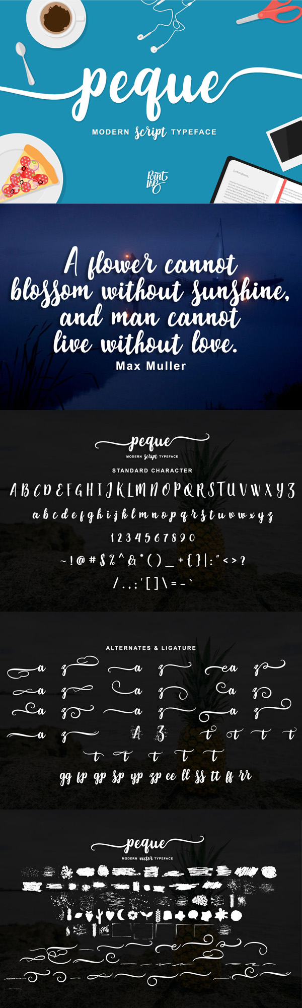 Peque Free Script Font