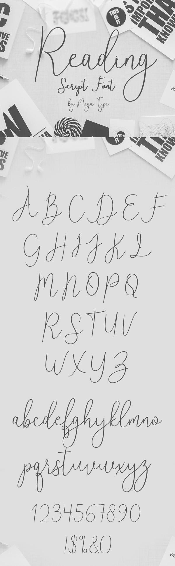 Reading Free Script Font