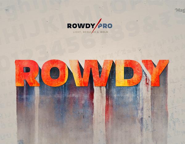 Rowdy Pro Free Font