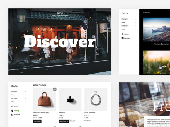 Carta: A free all-in-one WordPress theme