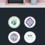 Free Floral Wedding Vector Labels