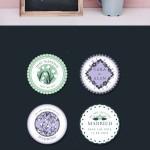 Free Floral Wedding Vector Labels