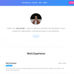 Freebie: Beautiful CV Template with Bootstrap