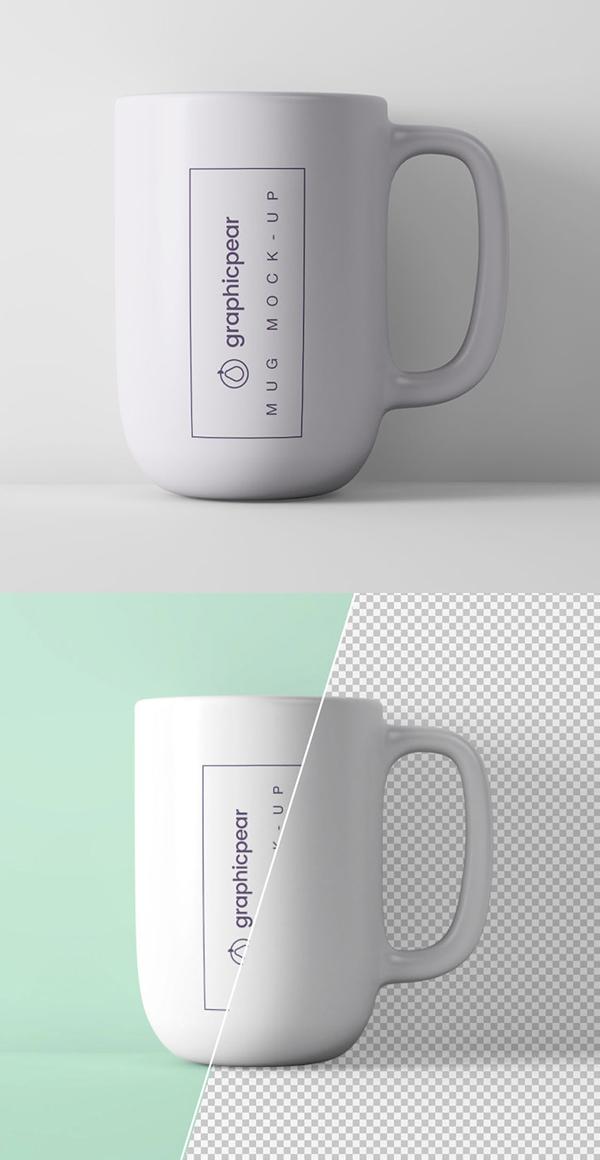 Free Minimal Coffee Mug Mockup PSD Template