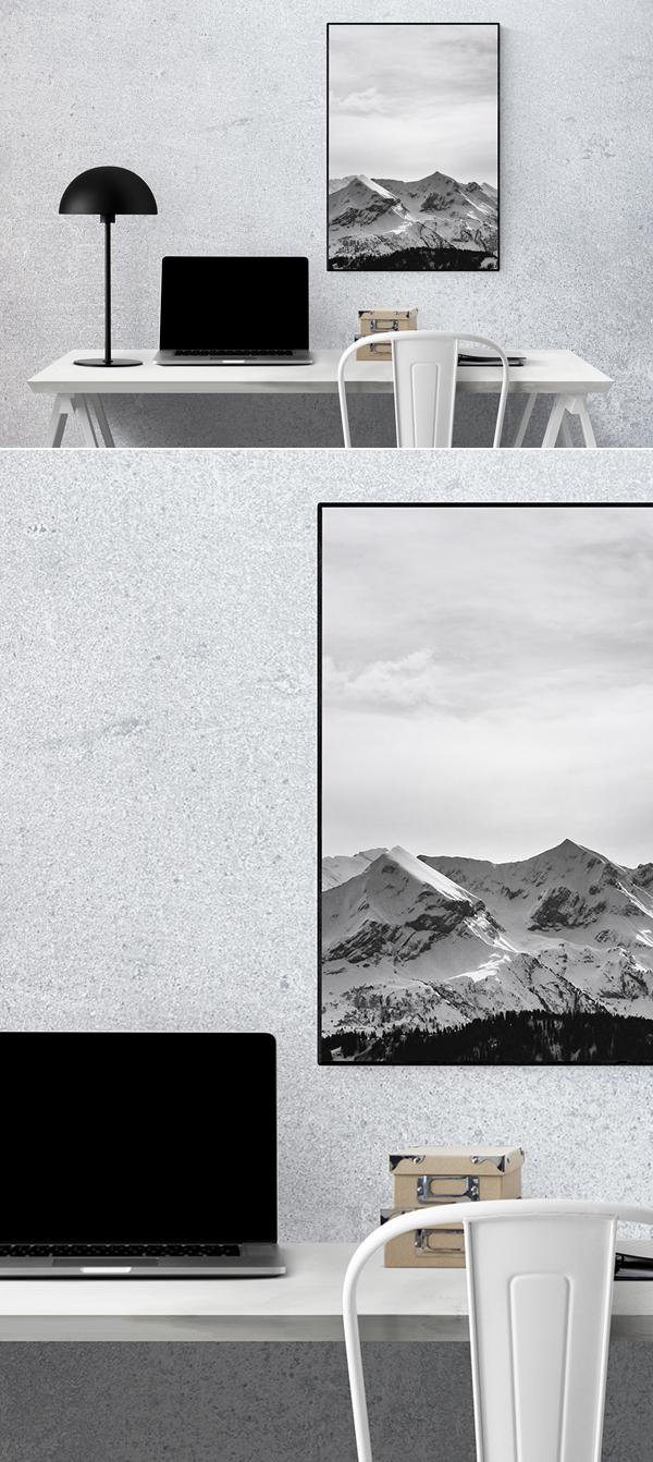 Free Minimal Wall Art Frame Mockup PSD