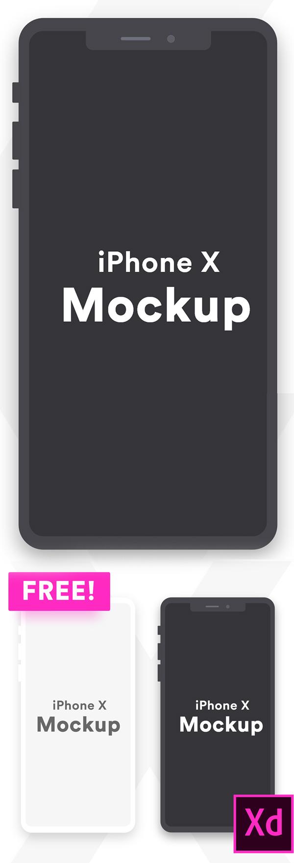Free iPhone X Minimal Clay Mockup