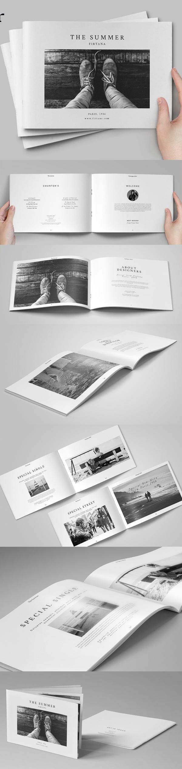 The Summer Catalogue Brochure Template