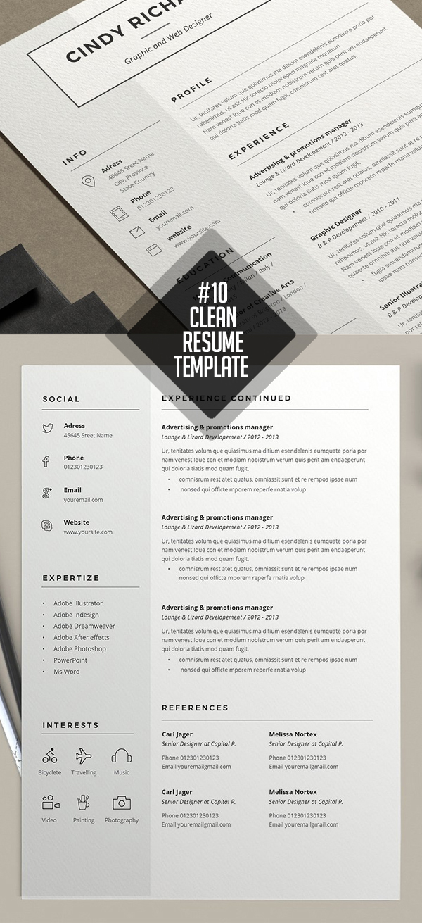 Resume Cindy Template