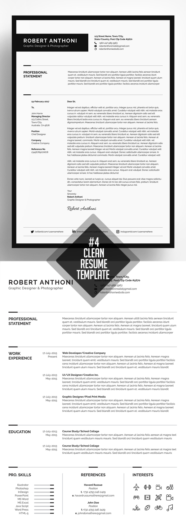 Creative Resume/CV Template