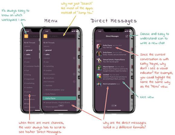 Slack iPhone UI - Preview 02