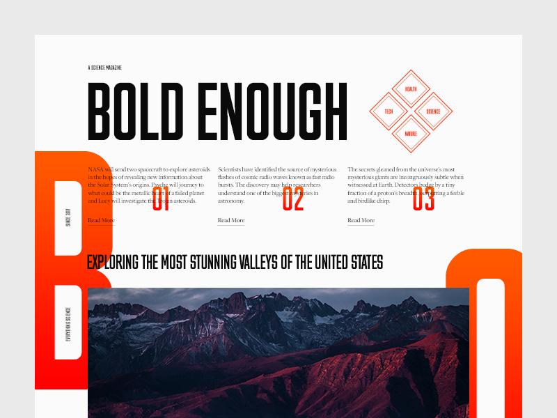 headline bold typography example