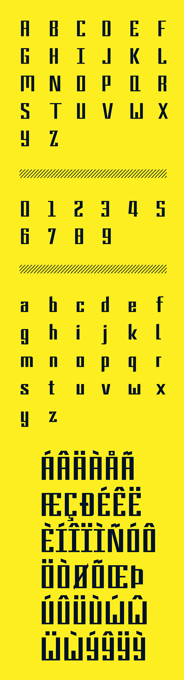 9BAR Font Letters