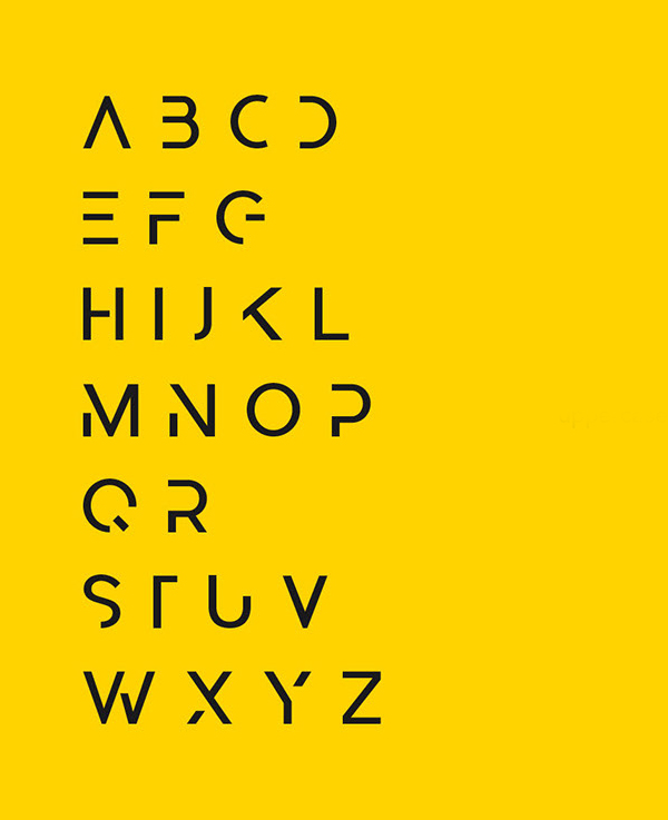 Abster Font Letters