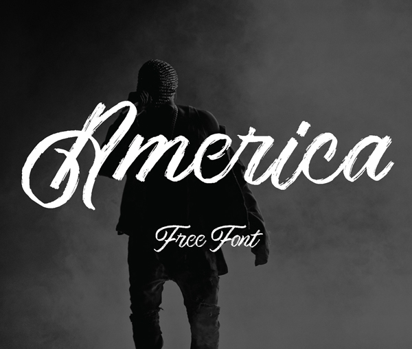America Script Free Font