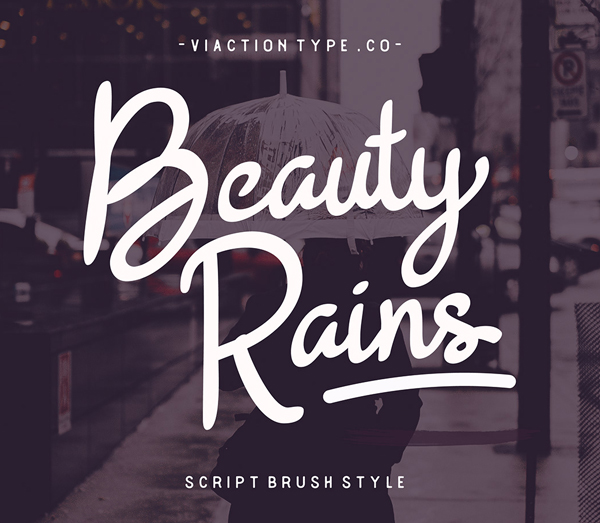 Beauty Rains Script Brush Free Font