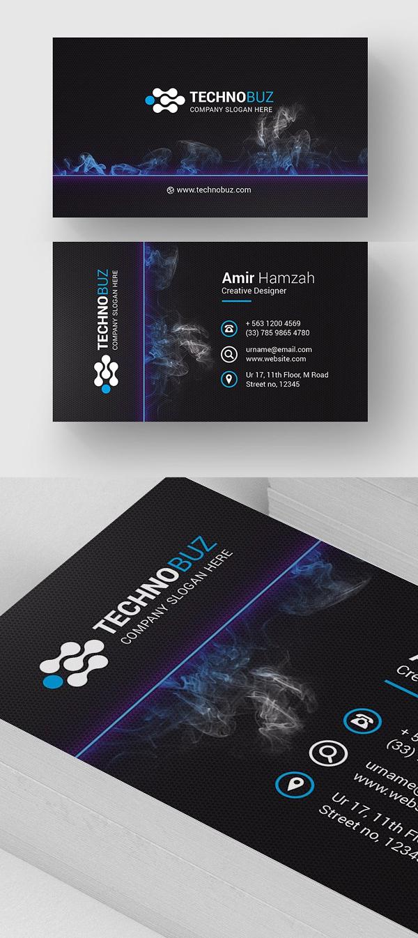 Dark Modern Business Card Template
