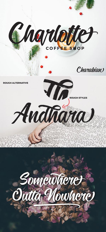 Candelion Script Free Font Letters
