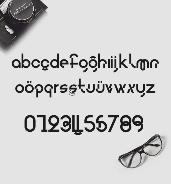 Cylinder Free Font Letters