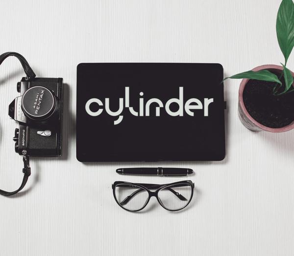Cylinder Free Font