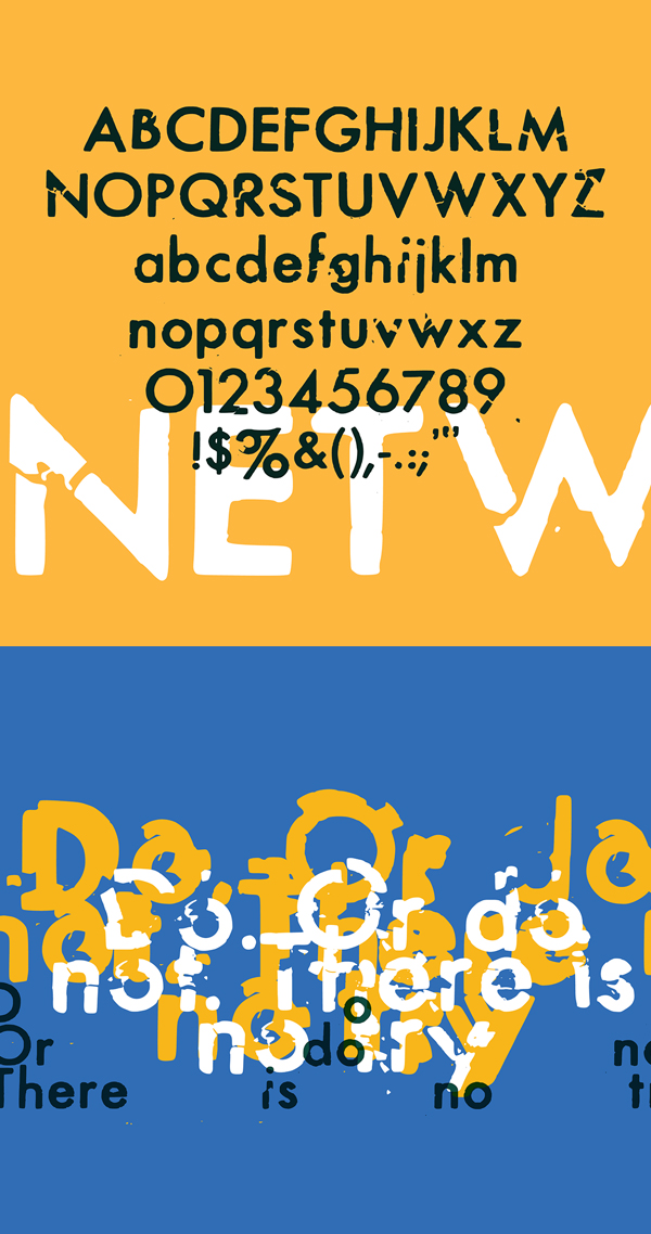 DryTransfer Futura Medium Font Letters