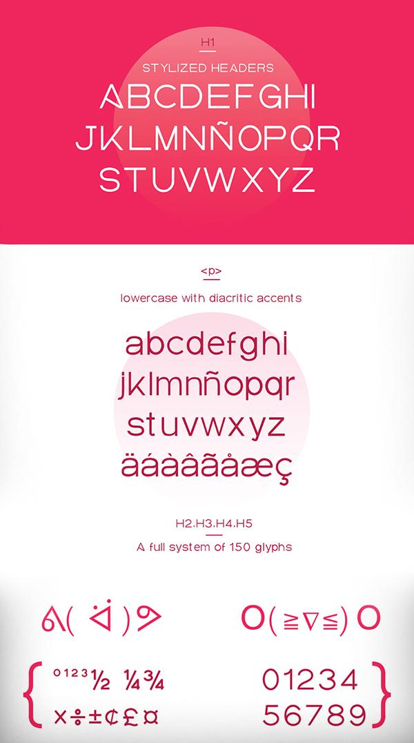 Elalba Free Font Letters