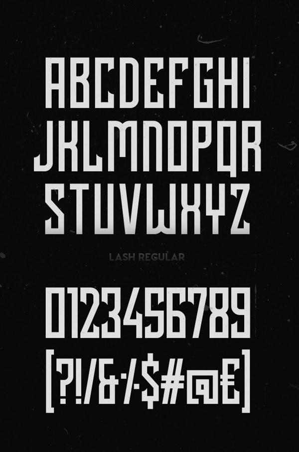 Lash (Rough) Font Letters