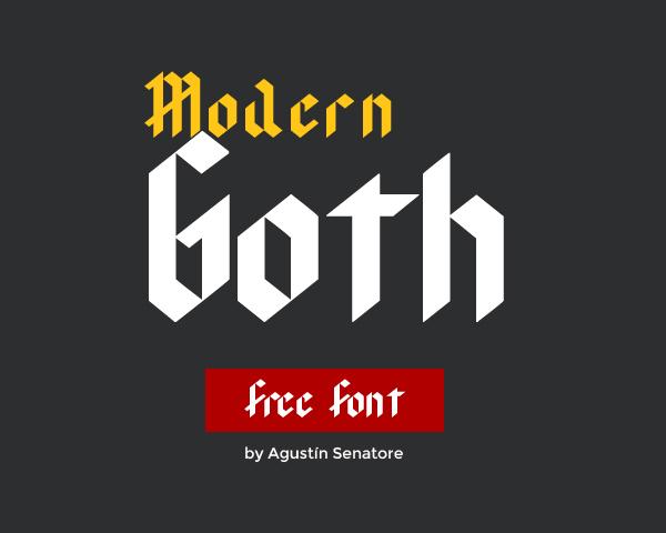 Modern Goth Free Font
