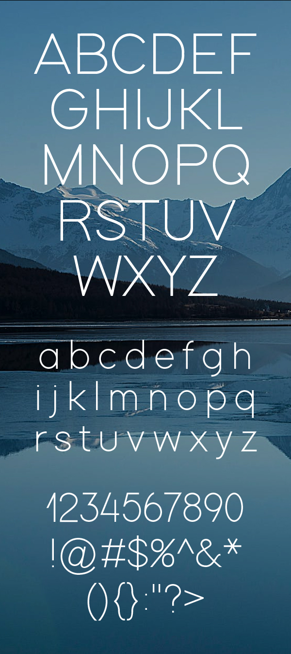 Modern Sans Free Font Letters