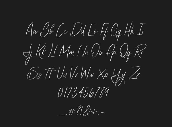 Monique Script Free Font Letters