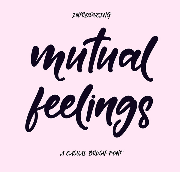 Mutual Feelings Free Font