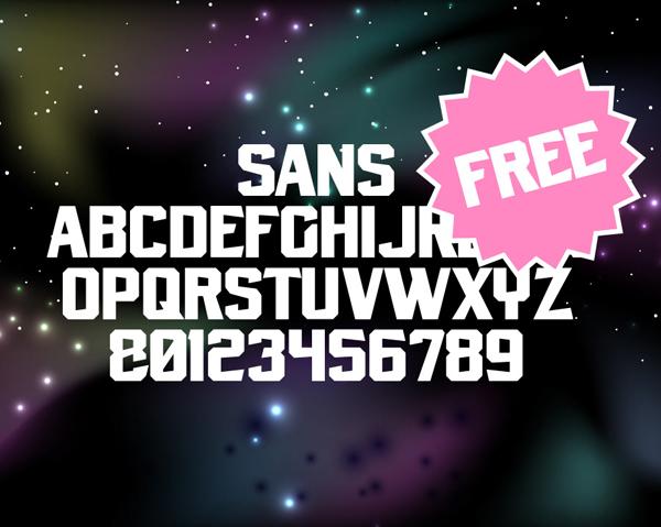 Sun Traveller Free Font Letters